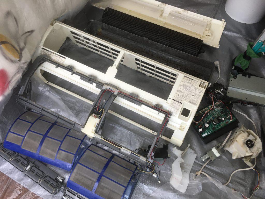 三菱電機MSZ-EM28E5エアコンクリーニング